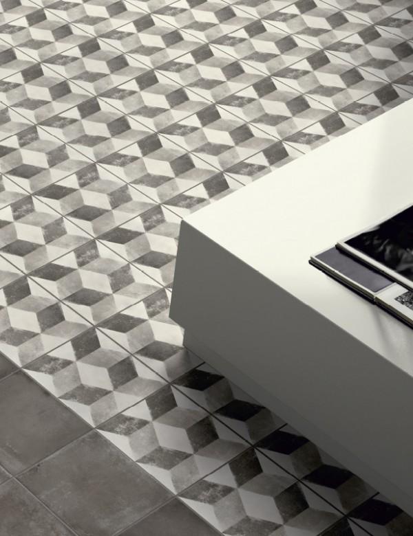 Gresowa płytka retro imitacja cement 20x20