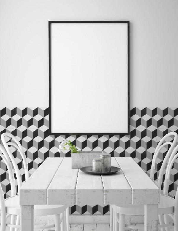 Płytka imitująca cementową Keros Barcelona Cube 25x25