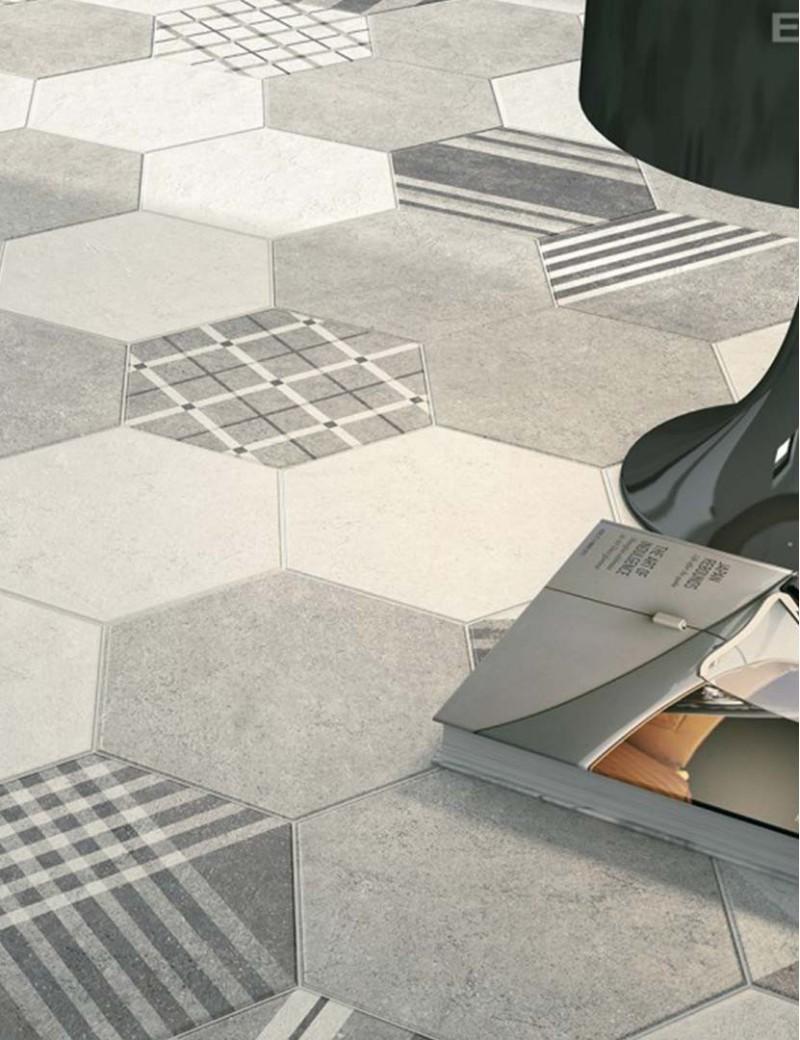 Płytka Equipe Hexatile Cement 17,5x20