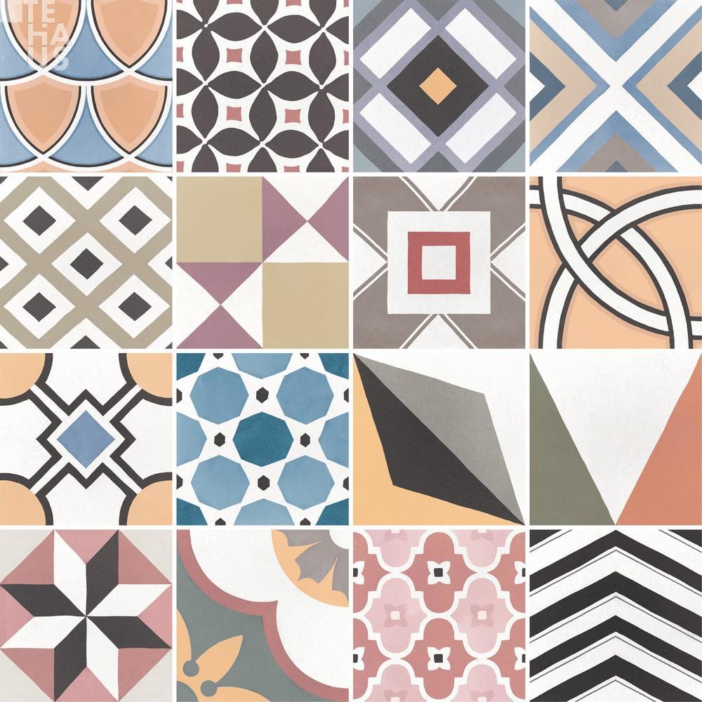 patchwork colours 20x20. Black Bedroom Furniture Sets. Home Design Ideas